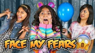 Face My Fears - 24 Hours Challenge - Funny Skits : The Evangeline Show // GEM Sisters