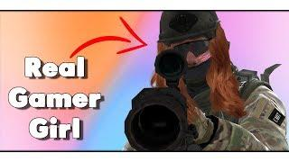 WHEN GAMER GIRLS PLAY CS:GO - CS:GO Funny Moments