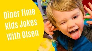 Jokes for Kids | Funny Jokes for Children | Diner Time Jokes with Olsen | Kids Knock Knock Jokes