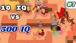 10 IQ or 500 IQ in Brawl Stars Part 7 Pro Gameplay Funny Moments 2019, Fails,Glitches Montage 300 IQ
