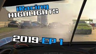 iRacing Twitch Highlights, 2019 Ep. 1 (Fails, Wins and Funny Moments)
