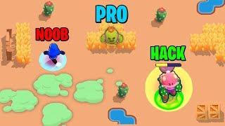 NOOB vs PRO vs HACKER in Brawl Stars Glitches & Funny Moments & Fails | #24