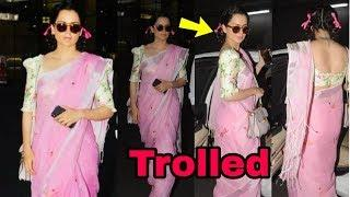 Oops ! Kangana Ranaut badly trolled for her FUNNY look at airport | Shocking