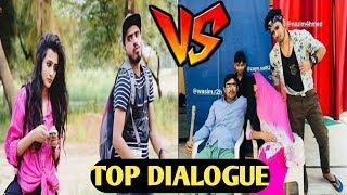 Amit Bhadana vs Round 2 hell : Top DIALOGUE  new video #tiktok vs #vigo video