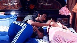 Ruthika & Her Husband Funny Love Scene || Telugu Love  Scenes  || Cinema Garage