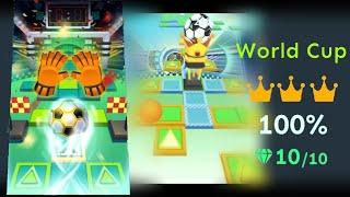 Rolling Sky Level 28 World Cup - All gems and crowns
