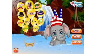 Pet Stars Funny Elephant | Caring Animals Outside Happy Bath and Dress Up | Funny Kids Games