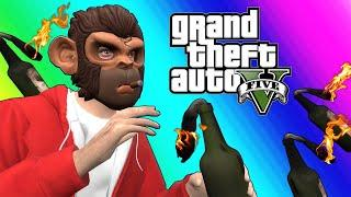 GTA5 Online Funny Moments - Unfair Windmill Dodgeball!