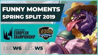 Funny Moments - LCS week 5 & LEC week 6 - Spring Split 2019 (fun/fail compilation)