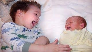 CUTE BABY LAUGHS AT SIBLING'S JOKES | Funny and Cute Compilation