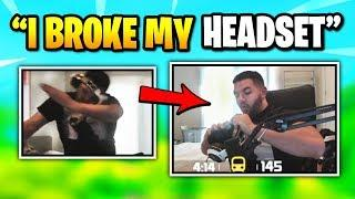 Courage BREAKS His HEADSET While Doing Fortnite Dance | Fortnite Daily Funny Moments Ep.348