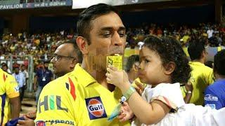 IPL 2018 Final - Funny Moments - Dhoni Ziva Cute - Dhoni Bravo Race After Final Win 2018