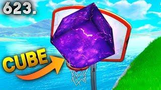 *first ever* CUBE BASKETBALL SHOT..!!! Fortnite Funny WTF Fails and Daily Best Moments Ep.623