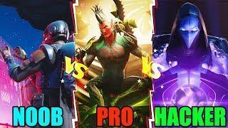 NOOB vs PRO vs HACKER - Fortnite Battle Royale Funny Moments! #97