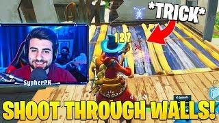 SypherPK Shows *NEW* Shoot Through Walls Trick! (Very Useful) - Fortnite Funny Moments