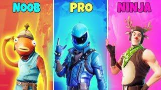 NOOB vs PRO vs NINJA - Fortnite Battle Royale Funny Moments