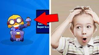 TOP 5 EPIC REACTION NEW BRAWLER LEGENDARY BOX OPENING BRAWL STARS Carl Funny Moments !