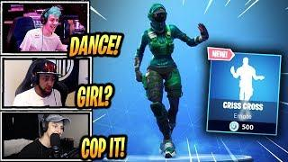STREAMERS REACT *NEW* CRISS CROSS EMOTE/DANCE! - Fortnite Epic & Funny Moments (Fortnite BR)