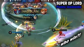 Mobile Legends Funny Moments : SUPER OP LORD | Lucu | 300iq GAMEPLAY