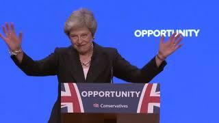 Theresa May Calls for Unity Over Brexit, With Jokes and a Dance Routine