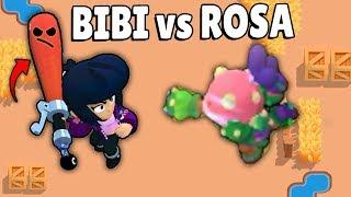 BIBI vs ROSA in Brawl Stars Glitches & Funny Moments & Fails | #38