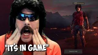DrDisRespect Reacts to His Blackout Skin In-Game | Funny Moments and EPIC Win in Blackout (10/23/18)