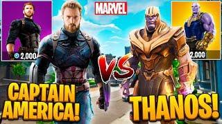 CAPTAIN AMERICA VS. THANOS IN FORTNITE!  - (Fortnite Battle Royale Funny Moments) #10