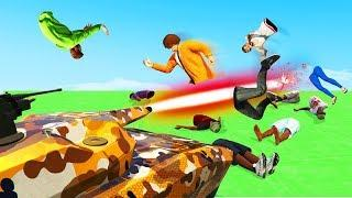 DODGE THE LASER TANK OR LOSE! - GTA 5 Funny Moments