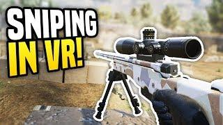 SNIPING IN VIRTUAL REALITY - Zero Caliber VR | Funny Moments!