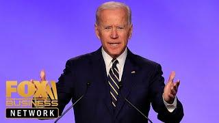Joe Biden jokes about touching allegations during union speech