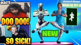 Streamers React to *NEW* Shaolin Sit-Up EMOTE! (Fortnite Funny Best Moments)