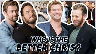 Chris Evans Hemsworth & Pratt Arguing WHO IS THE BETTER CHRIS | Funny Moments Avengers: Endgame