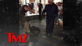 Brawl on Hollywood Walk of Fame on Donald Trump's Star