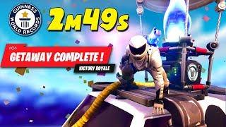 *WORLD RECORD* FASTEST WIN GETAWAY MODE..!!  Fortnite Twitch Funny Moments #183