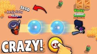 *CRAZY* PLAYS WITH BIBI SUPER in Brawl Stars Glitches & Funny Moments & Fails | #32