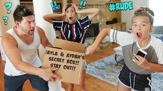 OUR DAD BROKE INTO OUR SECRET BOX!!