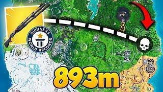 *WORLD RECORD* 893M SHOTGUN KILL! - Fortnite Funny Fails and WTF Moments! #561