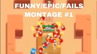 BRAWL STARS FUNNY/FAILS/EPIC MOMENTS MONTAGE #1