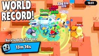 *WORLD RECORD* 13m 14s IN ROBO RUMBLE! - Brawl Stars Glitches & Funny Moments & Fails | #27