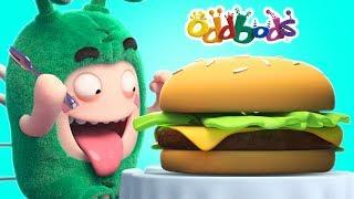 Oddbods Love GIANT BURGERS | Funny Cartoons For Kids | Oddbods Full Episodes