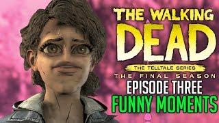 """FUNNY MOMENTS of The Walking Dead: The Final Season Episode 3 """"Broken Toys"""""""
