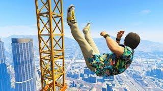GTA 5 Jumps/Falls Ragdolls Compilation #9 (Euphoria physics - Funny Moments)