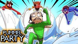 EVERYONE TEAM UP AGAINST SWEATY NOGLA! (Pummel Party Funny Moments)