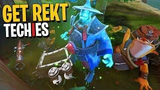 Get Rekt Techies - DotA 2 Funny Moments