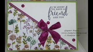 Fun fold gift card holder and card Love what you do Stampin' Up!
