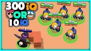 300 IQ or 10 IQ in Brawl Stars | BEST Brawl Stars Funny Moments & Glitches & Fails Montage #1