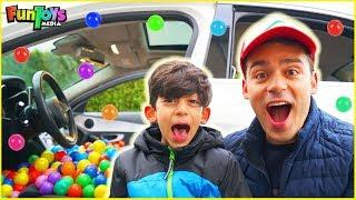 Kids Cars with Colors Ball Pits | Jason and Brother Jokes Funny Video