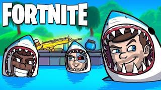 THE LOOT LAKE SHARK TROLLS!! - Fortnite Funny Moments