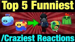 Brawl Stars - Top 5 Funniest/Craziest Reactions For Unlocking Legendary Brawlers! (English + Polish)