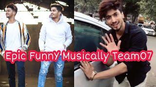 Epic New Funny Musically Faiz and Mr Faisu | Team07 Tiktok  Stars India